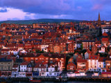 Town Buildings at Dawn, Whitby, North Yorkshire, England Reproduction photographique par Grant Dixon