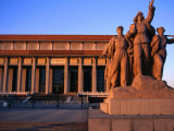 Statue Outside Chinese Revolution History Museum in Tiananmen Square Bejing, China Photographic Print by Glenn Beanland