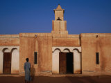 Kiffa Wood and Mud Mosque, Kiffa, Assabra, Mauritania Fotografisk tryk af Jane Sweeney