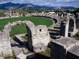 Roman Amphitheatre Ruin, Salona, Croatia Photographic Print by Wayne Walton