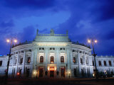 Burgtheater at Dusk, Innere Stadt, Vienna, Austria Photographic Print by Richard Nebesky