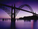 Yaquina Bay Bridge, Newport, Oregon, USA Fotografiskt tryck