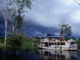 Amazon Riverboat Near Porto Velho, Porto Velho, Rondonia, Brazil Photographic Print by Jane Sweeney