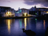 Evening Sky Over Harbour, Velas, Portugal Photographic Print by Wayne Walton
