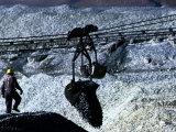 Man Working at Tailing Dump, Silgo XX Tin Mine, Siglo Veinte, Bolivia Photographic Print by Eric Wheater