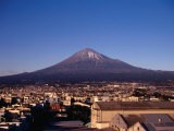 Fuji City with Mt. Fuji in background, Mt. Fuji, Japan Photographic Print by Martin Moos
