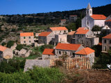 Stone Houses in Village of Velo Grablje, Croatia Photographic Print by Wayne Walton