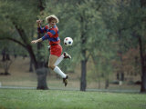 Soccer Player Performing Tricks with the Ball Photographic Print