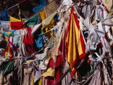 Prayer Flags on Pilgrimage Circuit Around Tashilhunpo Monastery, Shigatse, Tibet Photographic Print by Richard I'Anson
