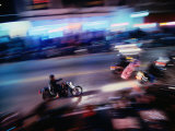 Motorbikes Take to Main Street During Bike Week, Daytona Beach, Florida, USA Photographic Print by Lawrence Worcester