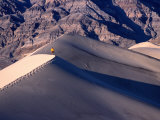 Hiker Walking on Ridge of Eureka Sand Dunes, Death Valley National Park, USA Photographic Print by Woods Wheatcroft