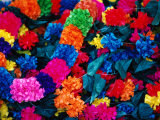 Paper Floral Garlands, Rajasthan, India Photographic Print by John Hay