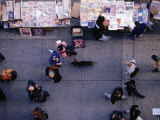 Pedestrians and Sidewalk Stall, New York City, New York, USA Photographic Print by Angus Oborn