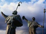 Pilgrim Statues, Santiago De Compostela, Spain Photographic Print by Wayne Walton