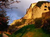 Old Hilltop Town Ramparts at Sunset, Buzet, Croatia Photographic Print by Wayne Walton