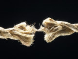 Fiber Rope Against Black Background Photographic Print