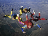 Skydivers Photographic Print