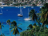 Yachts in Harbour, Port Elizabeth, St. Vincent & the Grenadines Photographic Print by Wayne Walton
