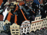 Rooftops of Historic Buildings Lining Old Town Square, Prague, Czech Republic Photographie par Richard Nebesky