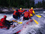 Whitewater Rafting on Valan, Jamtland, Sweden Photographic Print by Anders Blomqvist