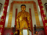 Large Golden Standing Buddha Inside Ten Thousand Buddhas Monastery, Sha Tin, Sha Tin, Hong Kong Photographic Print by Richard I'Anson