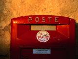 Red Post Box, Tuscany, Italy Photographic Print by John Hay