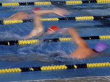 Racing Swimmers Photographic Print