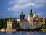 Smetana Museum, Bridge Tower and Church of St. Francis Seraphinus, Prague, Czech Republic Photographic Print by Jonathan Smith