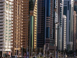 Contemporary Buildings, Sheik Zayed Rd, Dubai, United Arab Emirates Photographic Print by Phil Weymouth