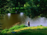Fishing in the River Vienne, Chinon, France Photographic Print by Diana Mayfield