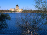 Legislative Building and Wascana Lake After Late Spring Snowfall, Regina, Saskatchewan, Canada Photographic Print by Stephen Saks