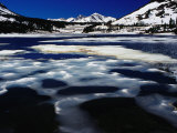 Tioga Lake in Winter, Yosemite National Park, California, USA Photographic Print by Richard I'Anson
