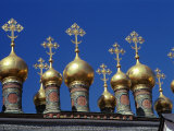 Cupolas of the Terem Churches, Kremlin, Moscow, Russia Photographic Print