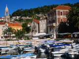 Boats in Harbour, Hvar, Croatia Photographic Print by Wayne Walton