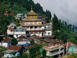 Aloobari Monastery and Surrounding Village, Darjeeling, India Photographic Print by Pershouse Craig
