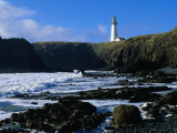 Lighthouse in Yaquina Head Natural Area, USA Photographic Print by John Elk III