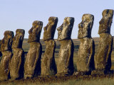 Ahu Akivi, Easter Island, Chile, Photographic Print