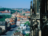 Hradcany District from Roof of St. Vi'Ta, Prague, Czech Republic Photographic Print by Richard Nebesky