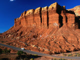 "Formation of Soft Moenkopi Rock Known as ""Egyptian Temple"" Capitol Reef National Park, Utah, USA Photographic Print by Barnett Ross"