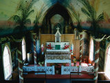 Interior of St. Benedict's Painted Church, Big Island, Hawaii, USA Photographic Print by Eric Wheater