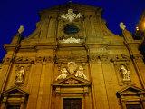 Baroque Facade of Chiesa Di San Gaetano at Dusk, Florence, Tuscany, Italy Photographic Print by Glenn Beanland