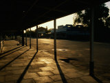 Empty Early Morning Street, Dimboola, Australia Photographic Print by Paul Sinclair