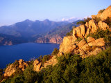 Les Calanques, Rocky Inlets Towering 400 Metres Above Golfe De Porto, Piana, Corsica, France Photographic Print by Tony Wheeler