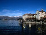 Palazzo Borromeo and Isola Di Pescatori in Background, Lago Maggiore, Italy Photographic Print by Martin Moos