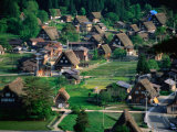Thatched Gassho-Zukuri Houses in Shirakawa-Go Gassho-No-Sato Village, Ogimachi, Japan Photographic Print by Martin Moos