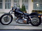 Black Motorcycle Photographic Print