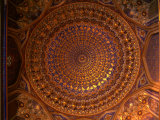 Ceiling Inside Dome of Tilla-Kari Medressa, Uzbekistan Photographic Print by Martin Moos