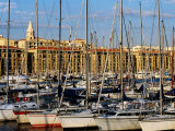 Sail Boats on Vieux Port (Old Harbour), Marseille, France Photographic Print by Jean-Bernard Carillet