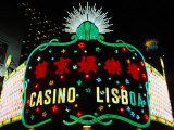 Neon Signs of Casino Lisboa, Macau, China Photographic Print by Richard I'Anson