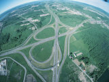 Fish Eye View of a Multi Lane Highway Architecture Photographic Print